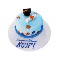 Blue Academic Cake (a30)