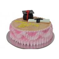 Pink Academic Cake (c159)
